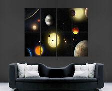 Pianeti spazio POSTER Sistema Solare Muro Art Immagine grande immagine