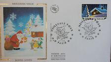 ENVELOPPE PREMIER JOUR - 9 x 16,5 cm - ANNEE 2002 - MEILLEURS VOEUX BONNE ANNEE