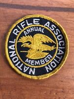 """Vtg National Rifle Association Annual Member 3"""" Sew On Patch Firearm NRA Badge"""