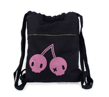 Goth Cherry Backpack black pink pastel goth yami kawaii creepy cute mini bag