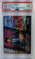 2019-20 Panini Prizm Luck of the Lottery Fast Break Coby White #7, Low Pop PSA 9