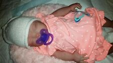 "Painted Newborn Full Body Silicone Baby Girl Doll ""Brianna"""