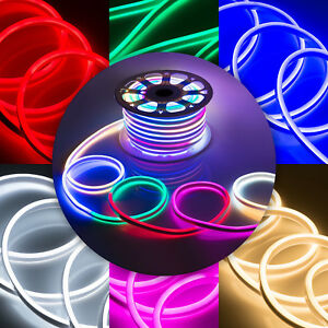 WYZworks Flexible SIngle / Double Sided LED Neon Rope Light Holiday Party Deco