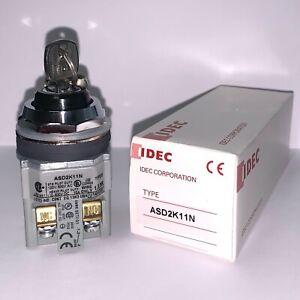 Brand New!!! IDEC 2-Position Key Selector Switch (#ASD2K11N)