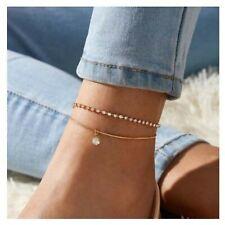 Anklet Bracelet on leg jewellery 2021. Bohemian Beads Anklets for Women Zirconia