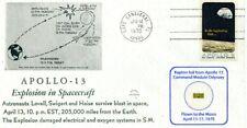 Apollo 13 Kapton Foil Flown to the Moon - on Beautiful Explosion Cover w/COA