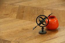 Brushed, Gunstock & UV Lacquered Oak Chevron Flooring 600*90*18/4mm SR1803