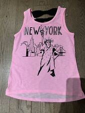 Nwot  Justice Summer Top Tank Size 14 Pink  New York City Trendy