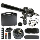 "Vidpro XM-55 11"" Condenser Shotgun Video DSLR Broadcast 13-piece Microphone Kit"