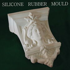 """LARGE ORNATE CHERUB WALL SCONCE """" used Silicone Rubber Mould Plaster Resin"""
