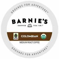 Barnie's Fairtrade Organic Colombian Dark Roast Coffee K-Cups for Keurig Brewers