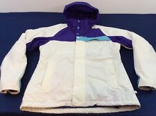 Burton Snowboard White & Purple Dryride Womens Large Winter Coat Jacket NWOT