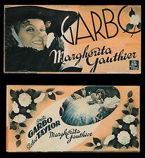 Cinema. Greta Garbo. Robert Taylor. Margherita Gauthier. Depliant dell'anno 1937