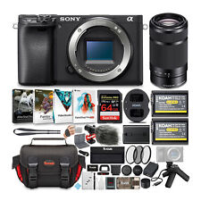 Sony Alpha a6400 Mirrorless Digital Camera Body Kit with Shooting Grip and Mic