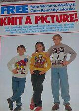 Woman's Weekly Knitting Pattern Leaflet Gary Kennedy Intarsia Sweaters