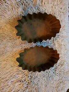 2 Vintage Copper Fluted Pans