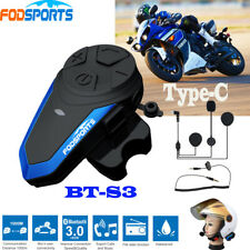 1000M BT-S3 Type-C Bluetooth Motorcycle intercom helmet Headset FM Interphone