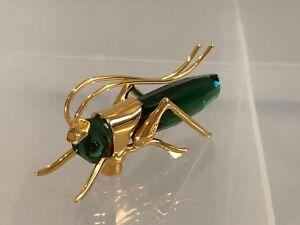 Swarovski Paradise Bug Object Grasshopper Aptera Dark emerald Medium 241931