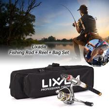 Telescopic 2.4m Fishing Rod and Reel Combo Full Kit Spinning Fishing Reel USA