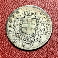 #3738 - RARE - Italie 1 Lire 1867 TTB - RARE