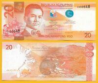 Philippines 20 Piso p-206b 2017F UNC Banknote