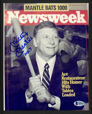 "Mickey Mantle Autographed 8x10 Photo Yankees ""No. 7"" (Smudge) Beckett A21411"