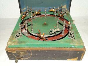 ANCIEN JEUX DE COURSE DE CHEVAUX DE COMPTOIR BISTROT OLD CAFE HORSE RACING GAMES