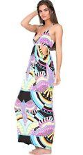 Mara Hoffman Swim Rainbow Bird Black maxi Dress Size Large NWT