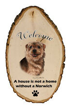 Outdoor Welcome Sign (Tb) - Norwich Terrier 51152