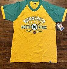 NEW 47 Brand Mens Minnesota North Stars NHL Hockey Stick Shirt Size Small