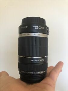 Canon Ef-s 55-250mm Is STM F4-5.6 Image Stabilizer Zoom Lens Extras