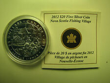 2012 Proof $20 Group of Seven #2-Nova Scotia Fishing Village-Arthur Lismer COIN&