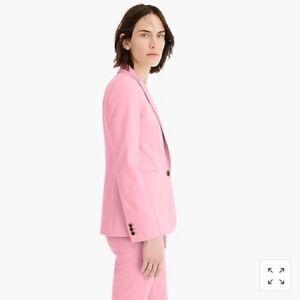 NWT J. Crew Parke Blazer bi-Stretch Cotton Women Pink 0P #H6724