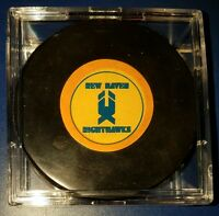 AHL New Haven Knighthawks Old Vintage Rubber Logo Art Ross Converse Hockey Puck