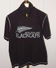 NEW ZEALAND BLACKCAPS ~ ALENS COOL & COMFORT WEAR T SHIRT JERSEY ( SIZE: L )