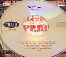 Neil Young Live CD Super Rare Rockin' In The Free World Sugar Mountain Hey Ohio
