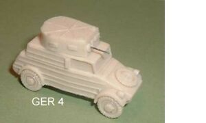 PKW.K1 Tipo 82 VW Kubelwagen Blindato Auto. 1/76 Scala Resina Kit Modello - G4