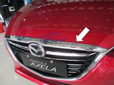 1PCS Chrome front hood Grill cover bonnet trim For 2014 2015 2016 Mazda 3