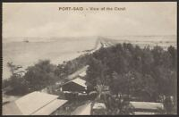 Egypt - Port Said - View of The Canal - Vintage Printed Postcard
