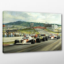Alan Fearnley Race Cars McLaren Oil Painting Print Canvas Home Art Decor 16x22