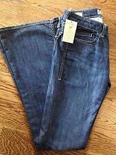 "NWT William Rast Sz 27 Womens BELLE Flare Denim Jeans 28"" Inseam Flap Pocket"