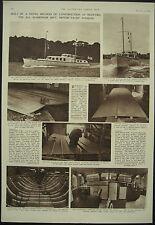 All Aluminium Motor Yacht Tonquin Bideford Grimston Astor 1952 Magazine Article
