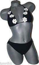 NWT PILPEL Israel swimsuit 12 bikini black flowers designer white pageant sexy