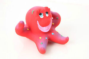 LANCO 100% Natural Rubber Octopus Baby Teether Sensory Bath Time Toys