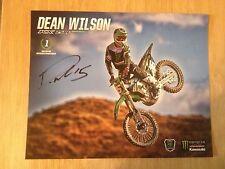SIGNED Dean Wilson Supercross AMA Motocross Racing Photocard Monster Kawasaki