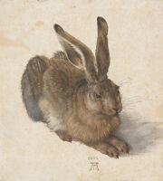 Der Feldhase Albrecht Dürer Hase Kaninchen Naturstudie  Alte Meister A3 066