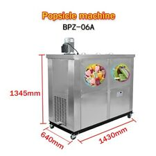 Kolice brazilian 6 slim mold sets ice popsicle machine,ice lollipop machine