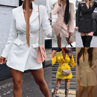 2019 NEW Fashion Women Casual Slim Business Blazer Suit Coat Jacket Outwear US