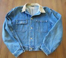 Vintage 1990s POLO RALPH LAUREN Western Blue Jean Jacket Corduroy Collar MENS XL