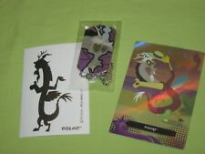 My Little Pony DISCORD Dragon DOG TAG #15 Foil Trading CARD #TC15 & STICKER Set